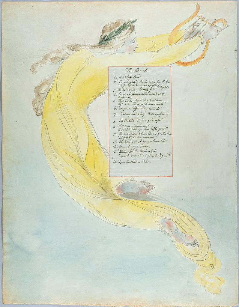 The Bard Entwurf 52 Aus Die Gedichte Von Thomas Grey 1797 98 Wc Mit Feder Und Schwarzer Tinte Auf Papier Von William Blake