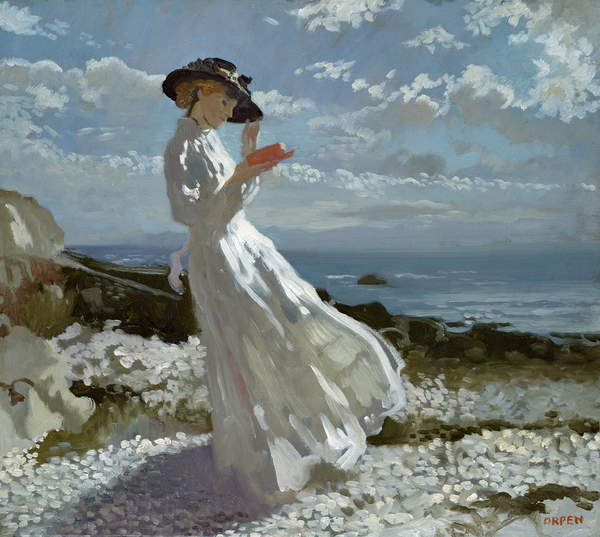 Grace Lesung in Howth Bay von William Orpen