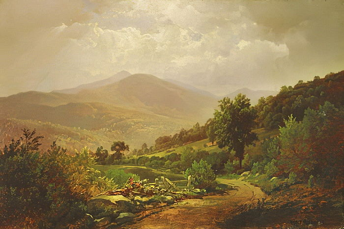 Bouquet Valley in den Adirondacks von William Trost Richards